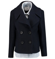 31 Phillip Lim 31 Phillip Lim Layered Wool blend Felt Jacket Navy
