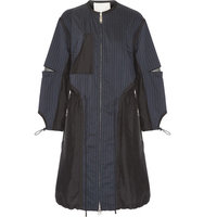 31 Phillip Lim 31 Phillip Lim Pinstriped Shell And Silk Parka Navy