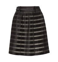 31 Phillip Lim 31 Phillip Lim Pleated Satin And Organza paneled Skirt Black