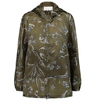 31 Phillip Lim 31 Phillip Lim Printed Silk satin Hooded Jacket Army green