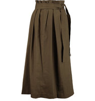 31 Phillip Lim 31 Phillip Lim Wrap effect Cotton Midi Skirt Army green