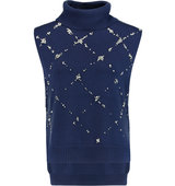 31 Phillip Lim Crystal and faux pearl embellished wool turtleneck sweater