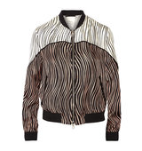 31 Phillip Lim Striped silk faille bomber jacket