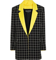 Balmain Balmain Checked Cotton Jacket Black