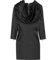 Balmain Balmain Draped Silk satin Dress Black