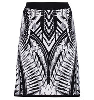 Balmain Balmain Stretch knit Mini Skirt Black