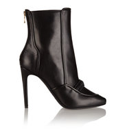 Balmain Balmain Tavi Leather Ankle Boots Black
