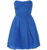 Carven Carven Cotton blend Organza Mini Dress Cobalt blue
