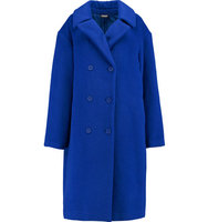 DKNY DKNY Llama And Wool blend Coat Blue