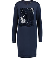DKNY DKNY Paillette embellished Stretch jersey Dress Midnight blue
