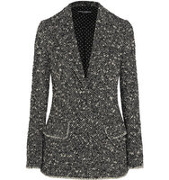 Dolce and Gabbana Dolce Gabbana Wool blend Boucl Blazer Black