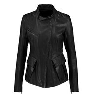 Donna Karan New York Donna Karan New York Leather Biker Jacket Black
