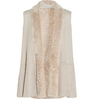 Donna Karan New York Donna Karan New York Shearling Vest Beige