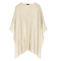 Donna Karan New York Donna Karan New York Silk And Cashmere blend Chenille Poncho Cream