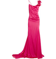 Donna Karan New York Donna Karan New York Silk blend Chiffon paneled Satin Gown Pink