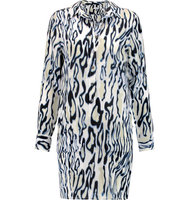 Equipment Equipment Lucida Printed Washed silk Mini Dress White