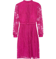 Erdem Erdem Cotton blend Lace Midi Dress Magenta
