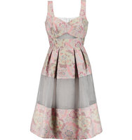 Erdem Erdem Layered Organza And Jacquard Dress Multi