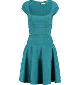 Issa Issa Jenny Ribbed Stretch knit Dress Teal