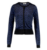 Issa Issa Jillian Jacquard knit Cardigan Black