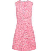Issa Issa Libby Ruched Jacquard Mini Dress Pink
