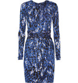 Issa Issa Morgana Stretch jacquard Mini Dress Blue