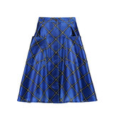 Jonathan Saunders Jonathan Saunders Charlotte Checked Textured satin Skirt Royal blue