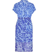 Jonathan Saunders Jonathan Saunders Clarice Printed Cotton And Silk Midi Dress Royal blue