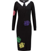 Just Cavalli Just Cavalli Embroidered Knitted Dress Black