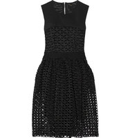 Maje Maje Restano Guipure Lace And Tulle Dress Black