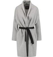 Maje Maje Wool blend Coat Gray