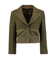Marc by Marc Jacobs Marc by Marc Jacobs Merino Wool paneled Wool blend Jacket Army green