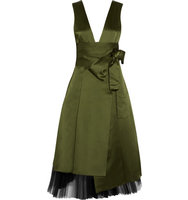 Marc by Marc Jacobs Marc by Marc Jacobs Satin And Tulle Dress Army green