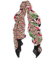 Marc by Marc Jacobs Marc by Marc Jacobs Spliced Jerrie Rose Printed Voile Scarf Green
