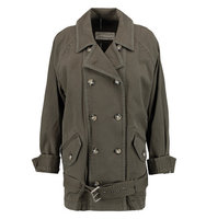Marc by Marc Jacobs Marc by Marc Jacobs Zeta Belted Cotton blend Twill Jacket Army green