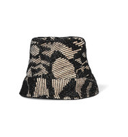 Missoni Mioni Crochet knit Cotton blend And Woven Raffia unhat Black