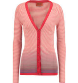 Missoni Missoni Striped Knitted Cotton blend Cardigan Red