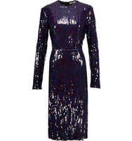 Nina Ricci Nina Ricci Sequined Crepe Midi Dress Multi