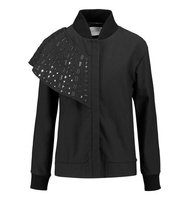 Osman Osman Embellished Twill Jacket Black