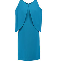 Osman Osman Layered Crepe Dress Azure