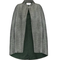 Osman Osman Metallic Wool blend Cape Gray green