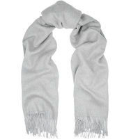 Rag and bone Rag bone Two tone Double faced Merino Wool Scarf Sky blue