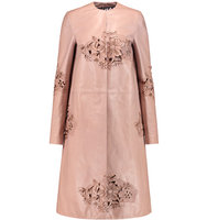 Rochas Rochas Laser cut Leather Coat Taupe