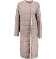See by Chloe See by Chlo Quilted Checked Cotton Coat Multi