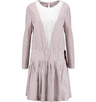 See by Chloe See by Chlo Striped Cotton poplin And Cotton voile Dress Grape