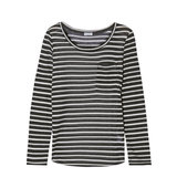 Splendid Splendid Striped Stretch knit Top Black
