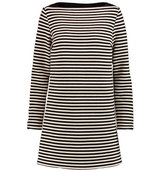 T by Alexander Wang T by Alexander Wang Leather trimmed Striped Woven Mini Dress Black