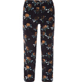 Thakoon Thakoon Addition Floral print Silk crepe Tapered Pants Midnight blue