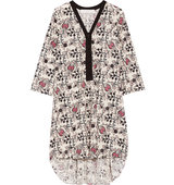 Thakoon Thakoon Addition Printed Eyelet cotton Dress Off white