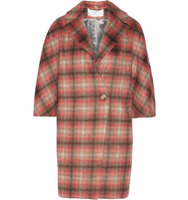 Thakoon Thakoon Checked Knitted Coat Papaya